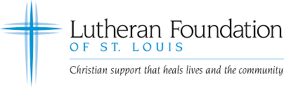 Logo, Lutheran Foundation of St. Louis, Christian support that heals lives and the community.